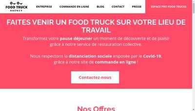 Site internet de The Food Truck Agency