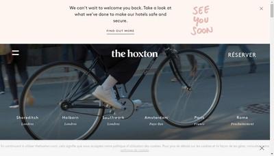 Site internet de The Hoxton (Paris)