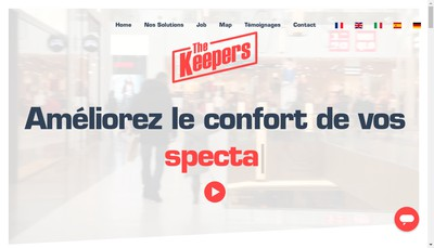 Site internet de The Keepers