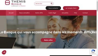 Site internet de Themis Banque Fiducial Banque