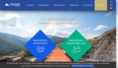 Site internet de Timab Magnesium