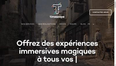 Site internet de Timescope
