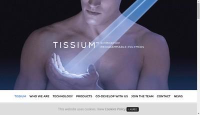 Site internet de Tissium