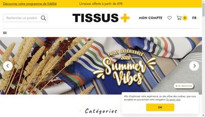 Site internet de Tissus Plus