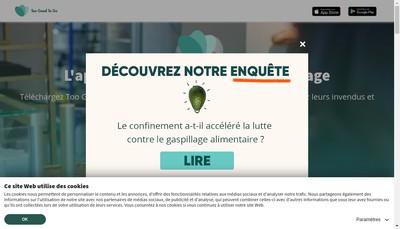 Site internet de Too Good To Go France
