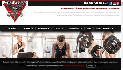 Site internet de Top Form