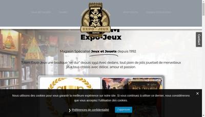 Site internet de Totem Expo-Jeux