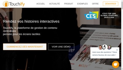 Site internet de Touchify