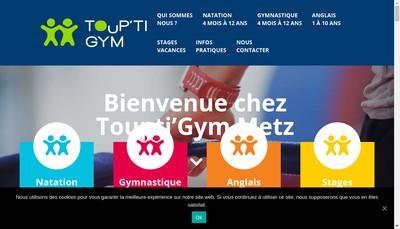 Site internet de Touptigym Metz