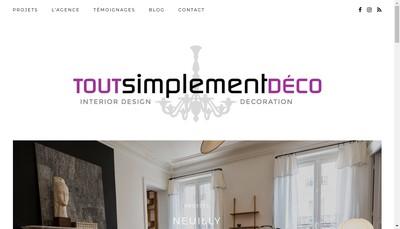 Site internet de Tout Simplement Deco