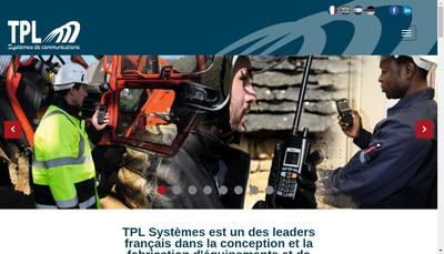 Site internet de Tpl Systemes