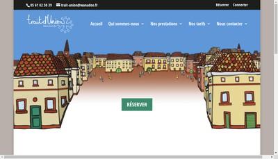 Site internet de Trait d'Union