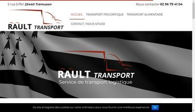 Site internet de Transports Rault Logistique