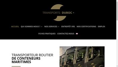 Site internet de Transports Duboc