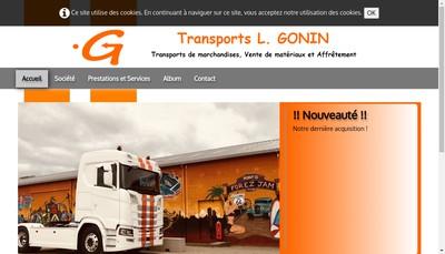 Site internet de Transports Gonin