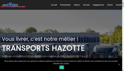 Site internet de Transports Olivier Hazotte