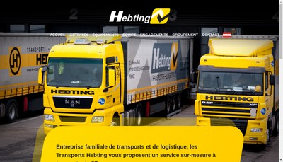 Site internet de Transports Hebting