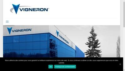 Site internet de Vigneron Transports