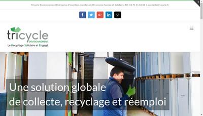 Site internet de Tricycle Environnement