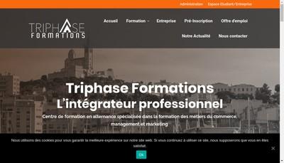 Site internet de Triphase Formations
