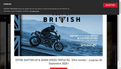 Site internet de Prestige Motos