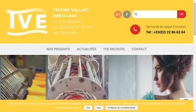 Site internet de Trocme-Vallart Emballage