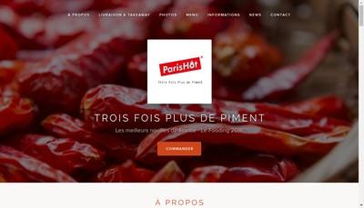 Site internet de Trois Fois Plus de Piment