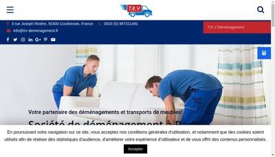 Site internet de TRV Services