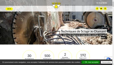 Site internet de Techniques de Sciage au Diamant
