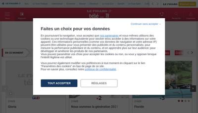 Site internet de Dassault Medias
