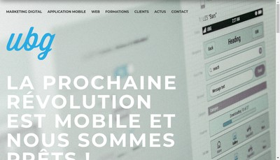 Site internet de Ubg Digital Media