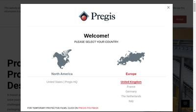 Site internet de Pregis SAS