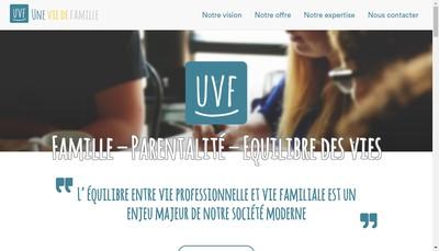 Site internet de Une Vie de Famille