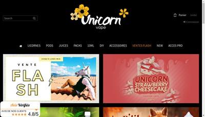 Site internet de Unicorn Vape