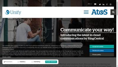 Site internet de Unify
