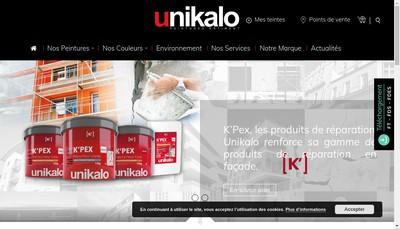 Site internet de Unikalo Distribution Lille