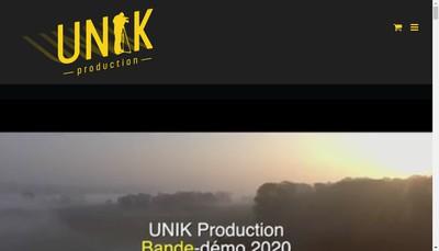 Site internet de UniK Production