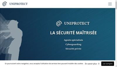 Site internet de Uniprotect Securite