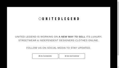 Site internet de United Legend