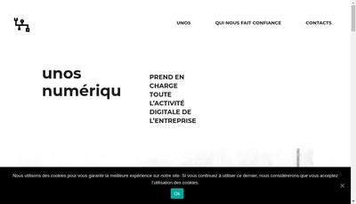Site internet de Unos