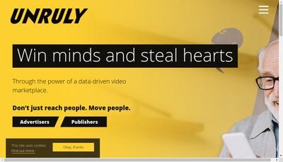 Site internet de Unruly Media