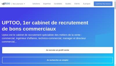 Site internet de Uptoo Region
