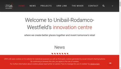 Site internet de Unibail Management