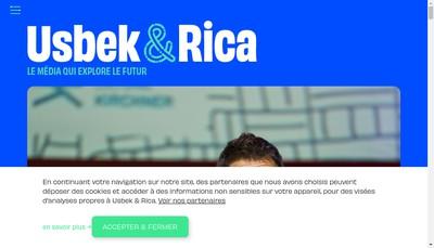 Site internet de Usbek & Rica