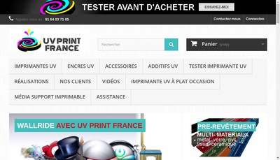 Site internet de Uv Print France