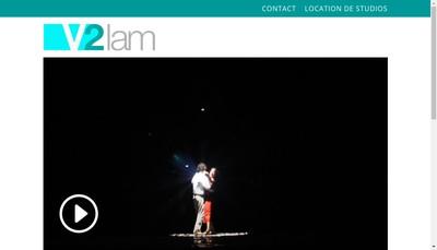 Site internet de V2Lam Productions
