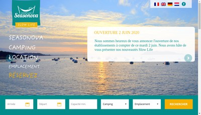 Site internet de Groupe Seasonova