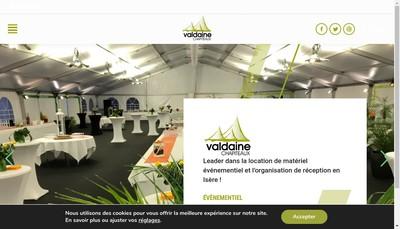 Site internet de Valdaine Chapiteaux