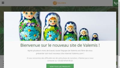 Site internet de Valemis