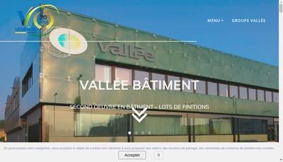 Site internet de Financiere Groupe Vallee